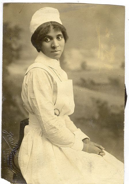 """""""Young Nurse"""", NYC ca. late 1800s."""