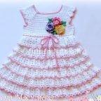 Платье с цветочками | Вязание для девочек | Вязание спицами и крючком. Схемы вязания.