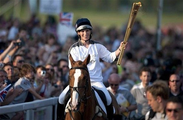 Zara Phillips, Princess Anne's daughter, was an official 2012 Olympic torch bearer. She also made the British Olympic Equestrian Team. Zara, who is 13th in line for the throne, won the 2006 World Championship.