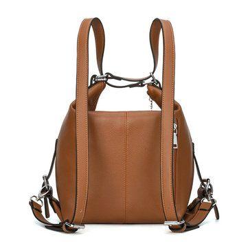 Women Microfiber Leather Retro Shoulder Bags Ladies Elegant Zipper Backpack Cros - US$53.56