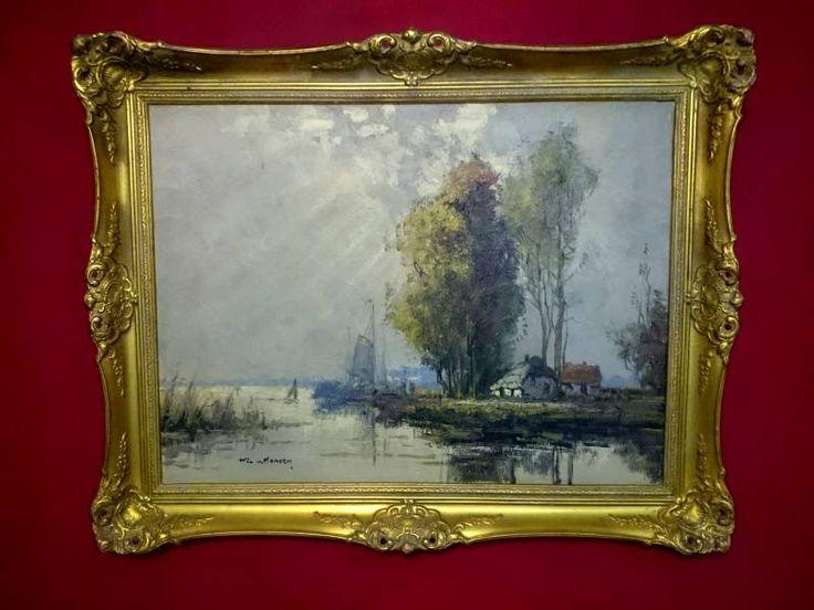 Obraz olejny Wim van Norden wieś rybacka