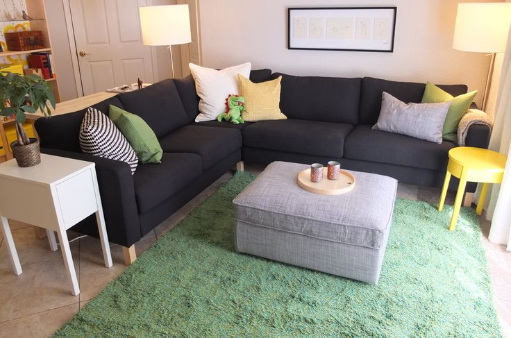 The Riveras needed seating for family and friends. The KARLSTAD corner sofa gives comfy space for a crowd, plus a removable and cleanable cover to keep the space looking fresh!