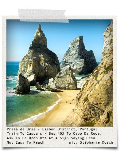 Praia da Ursa - Lisbon District, Portugal (pic: Stéphanie Dosch via www.hiddentreasures.ch)