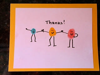 cute thank you cards from the kids