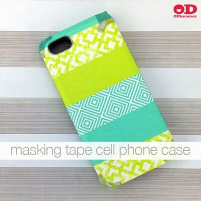 Washi tape can actually transform not only your phone charger, as well as your iPhone cases. ♥