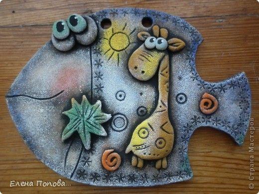 Поделка изделие Лепка Хочется сказать Спасибо Рыбка-мультяшка Тесто соленое фото 2