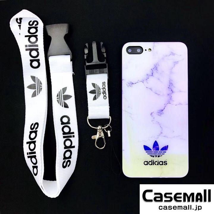 アディダス iPhoneXs max ケース adidas スマホケース Xs Xr X 8 plus 8 7 7plus 6 6S 大理石柄 ストラップ付き | 携帯電話ケース, Iphoneケース, ケース