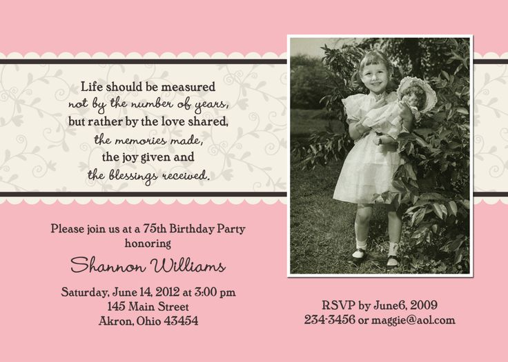 30 best BIRTHDAY INVITATIONS images – 90th Birthday Invitation Cards