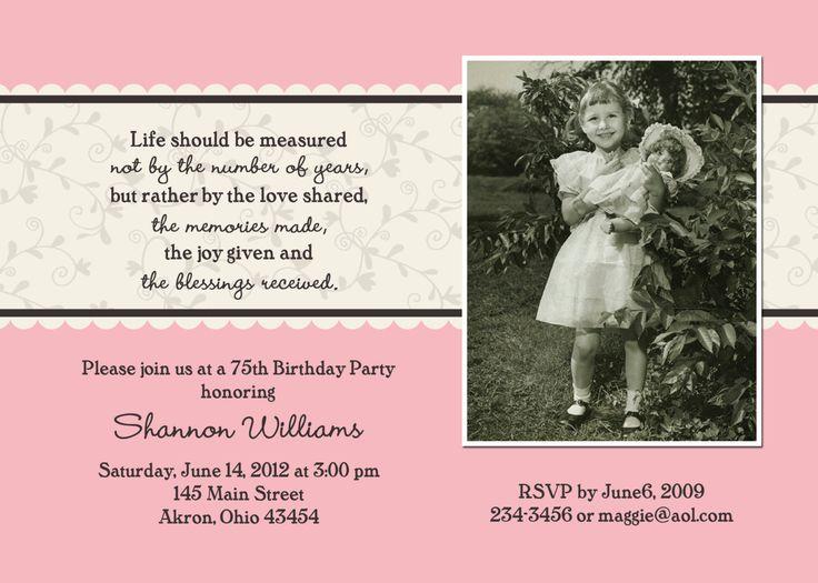 68f4ccce7000687feaf99b63ae7fe41b birthday card birthday 30 best 100th birthday images on pinterest,Birthday Invitations 90 Year Old Woman