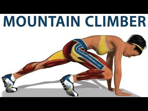 Ejercicios cardiovasculares: Mountain Climber - YouTube