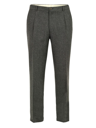 Paul Smith PS – mens charcoal grey trousers with a pleat front and slim, tapered leg. The trousers feature a zip fly, front quarter pockets and two rear pockets. The trousers have an unfinished hem for tailoring to your desired length. £135 at coggles.com