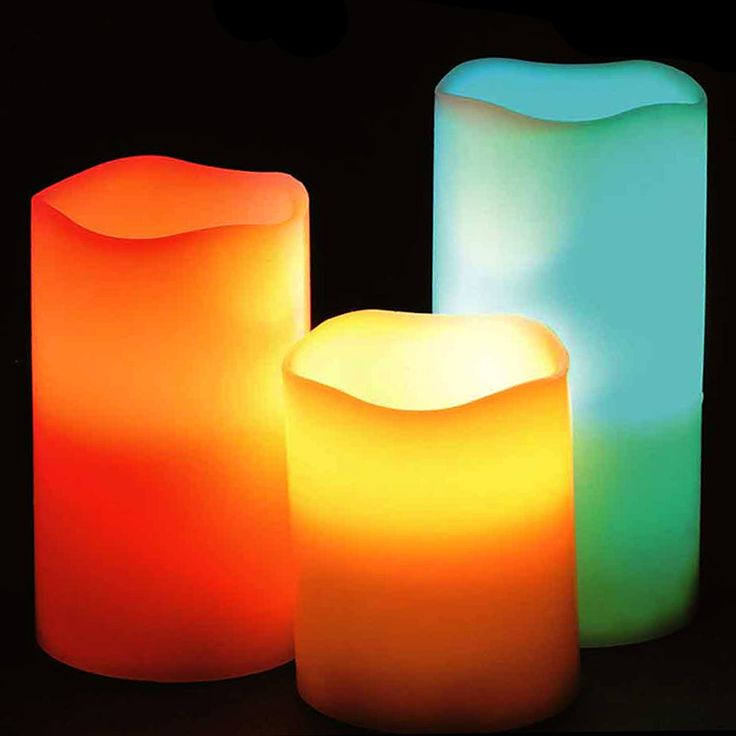 3-Piece Set: Two Elephants™ Color-Changing Vanilla-Scented Flameless Candles