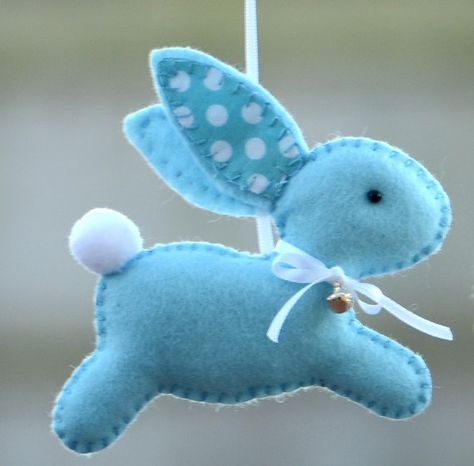 Easter Bunny Easter Decoration Nursery Bunny by FlossyTots