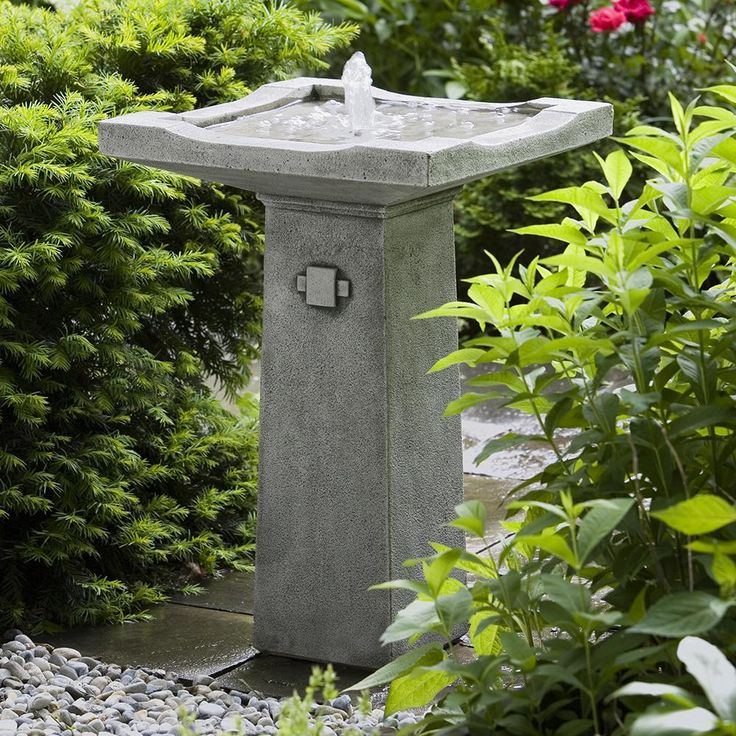 Pagoda Stone Fountain - Dark Grey Patina   Scenario Home