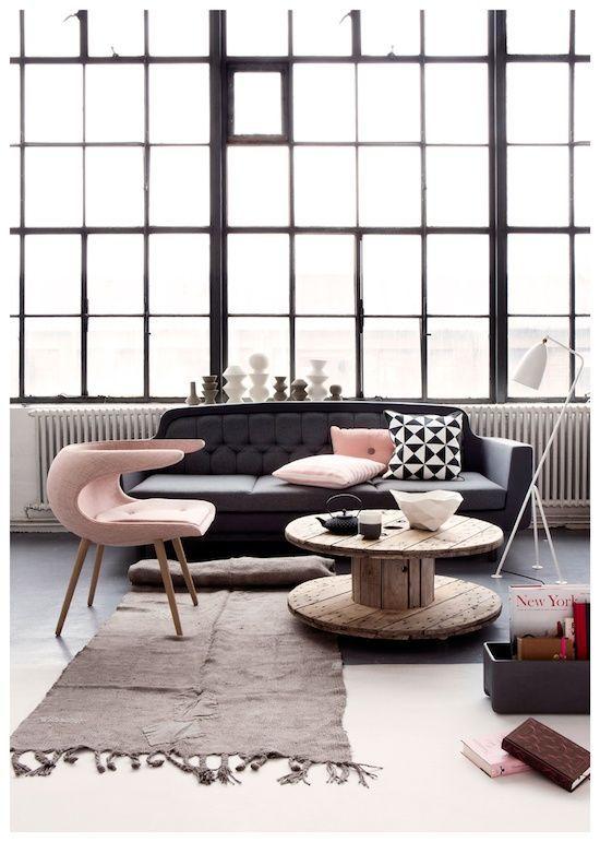 Sala de estar arrojada e moderna | Eu Decoro