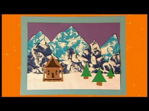 Mister Maker Christmas Make - Snowy Mountain Picture - YouTube