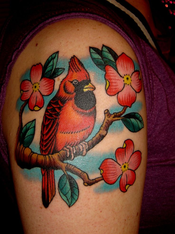 Pin Red Cardinal Tattoo Tattoos By Mareva Lambough on Pinterest