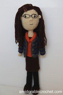 A[mi]dorable Crochet: Amy Farrah Fowler Pattern at http://www.amidorablecrochet.ca/2013/06/amy-farrah-fowler-pattern.html#.U_wNaGOxlhI