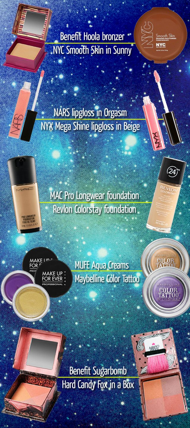 Drugstore alternatives to some high end products via ivyboyd.com #drugstoredupes #cheapmakeup #makeup #drugstore #dupes