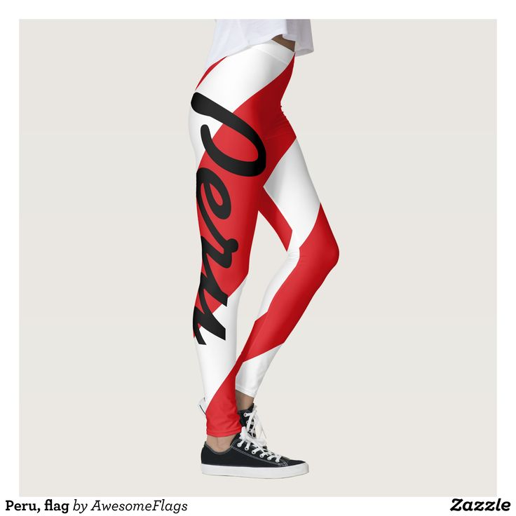 Peru flag leggings : Beautiful #Yoga Pants - #Exercise Leggings and #Running Tights - Health and Training Inspiration - Clothing for #Fitspiration and #Fitspo - #Fitness and #Gym #Inspo - #Motivational #Workout Clothes - Style AND #comfort can both be possible in one perfect pair of custom #leggings. #Peru flag leggings was crafted made with care each pair of leggings is printed before being sewn allowing for #fun and #creative designs on every square inch - Medium weight #fabric is tough…