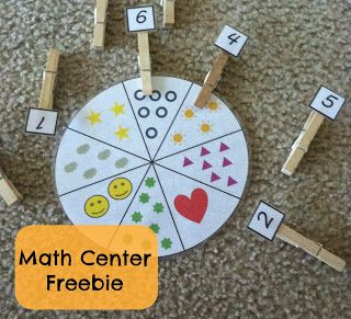 Little Miss Kimberly Ann: Math Center Freebies: Numbers, Counting, and Shapes