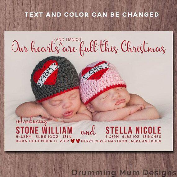 Best 25 Holiday Birth Announcement Ideas On Pinterest
