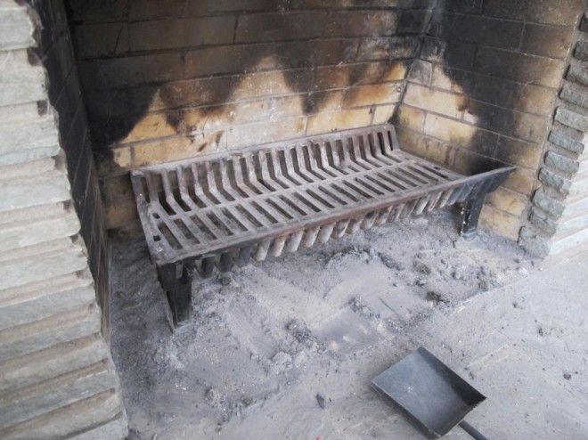 Cleaning Ashes from Fireplace