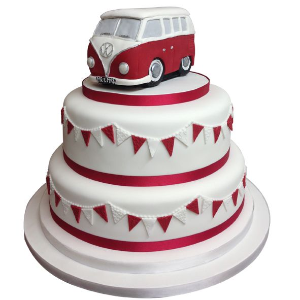 VW Campervan Wedding Cake 1