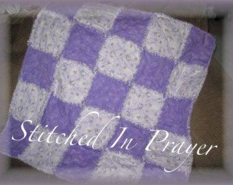 Púrpura Hello Kitty chica trapo edredón del bebé, manta del bebé, cosido en la oración