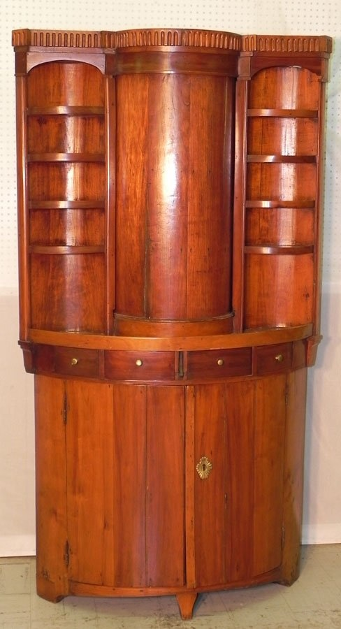19th century French cherry Biedermeier corner cupboard ...