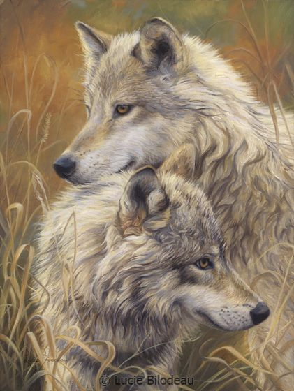 """""""Together"""", oil on linen, 16"""" x 12"""", by Lucie Bilodeau."""