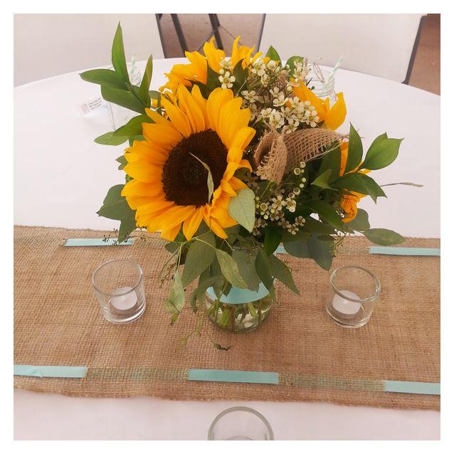 Best sunflower wedding centerpieces ideas on pinterest