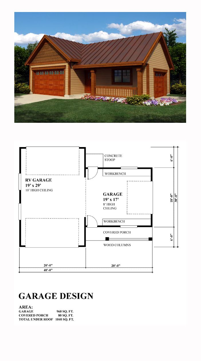 27 best 3 car garage plans images on pinterest 3 car for 40 x 40 apartment plans