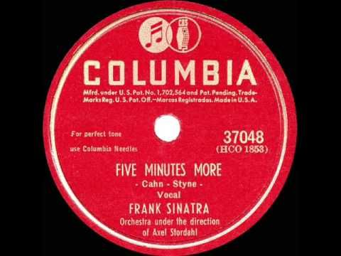 If you were born in 1946, it was still the Big Band era and Frank Sinatra was still reigning king - from that year here's one of his No 1 hits  'Five Minutes More'