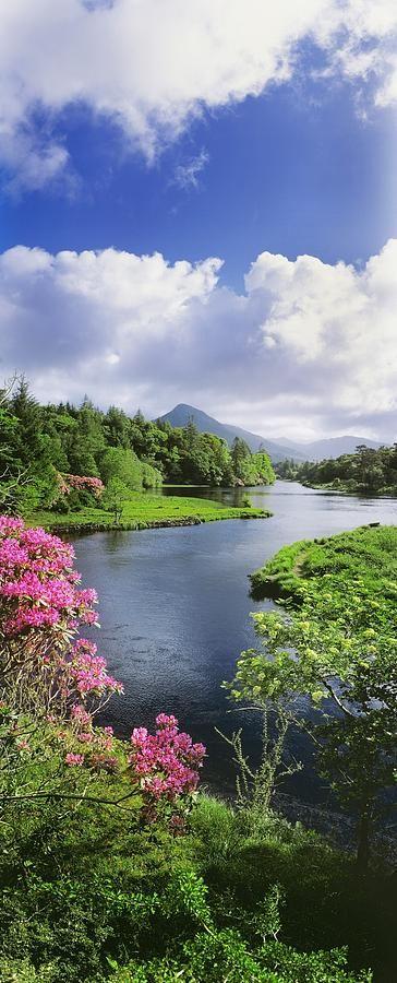 ✯ River Leading To A Mountain, Ballinahinch, Connemara, County Galway, Republic Of Ireland