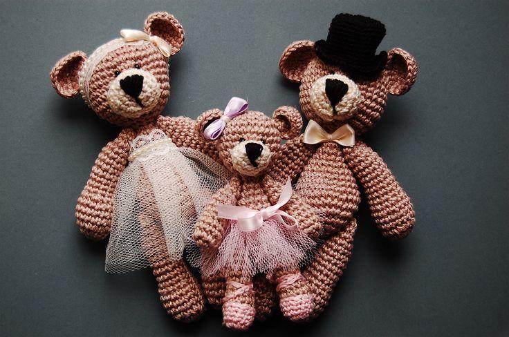 crochet bears familly