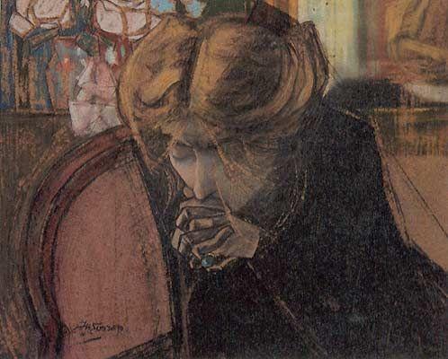 Jan Toorop, Het gebed / The prayer  (Miek Janssen) - 1914