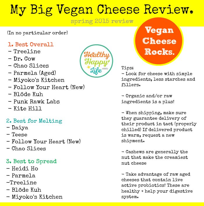 I am SO excited to finally bring you guys this post: my BIG Vegan Cheese Guide and Review!  Over the past few months (and years really) I h...