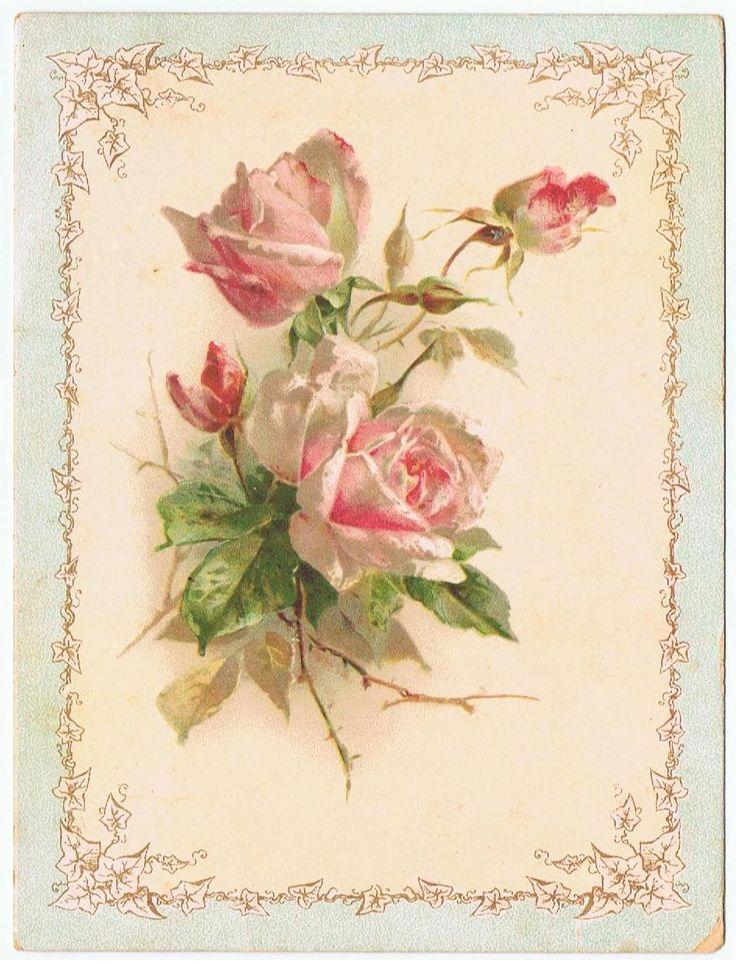 Картинки для декупажа роза ретро винтаж