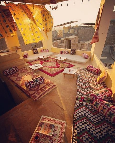 rooftop cafe at Jaisalmer, Rajasthan