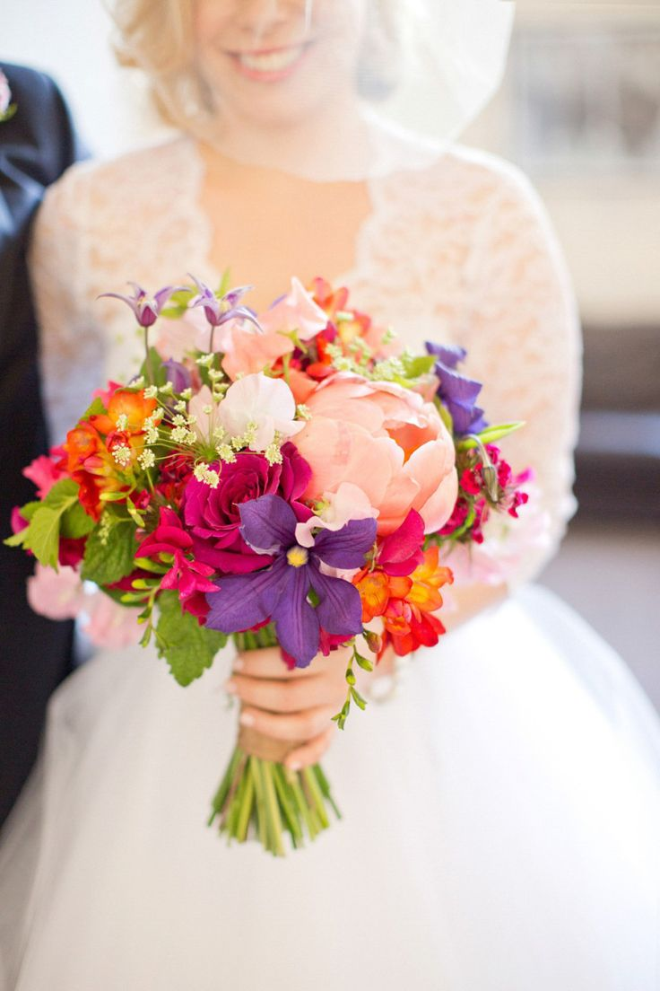 Colourful bouquet by Rebel Rebel    Photography by http://caughtthelight.com