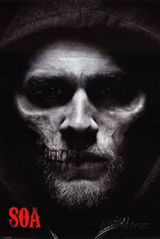 Sons of Anarchy - Jax Skull Póster
