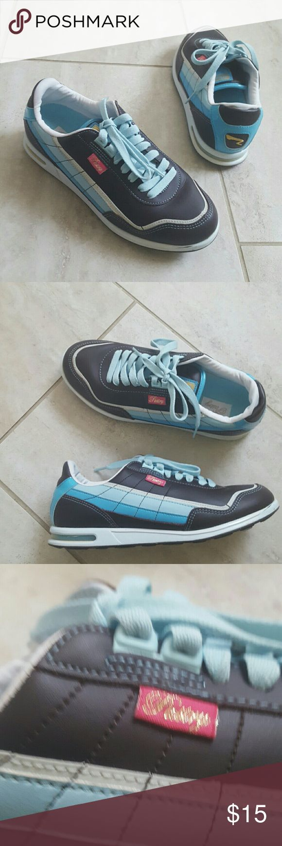 Chocolate brown, sky blue sneakers Chocolate brown, sky blue sneakers pastry Shoes Sneakers
