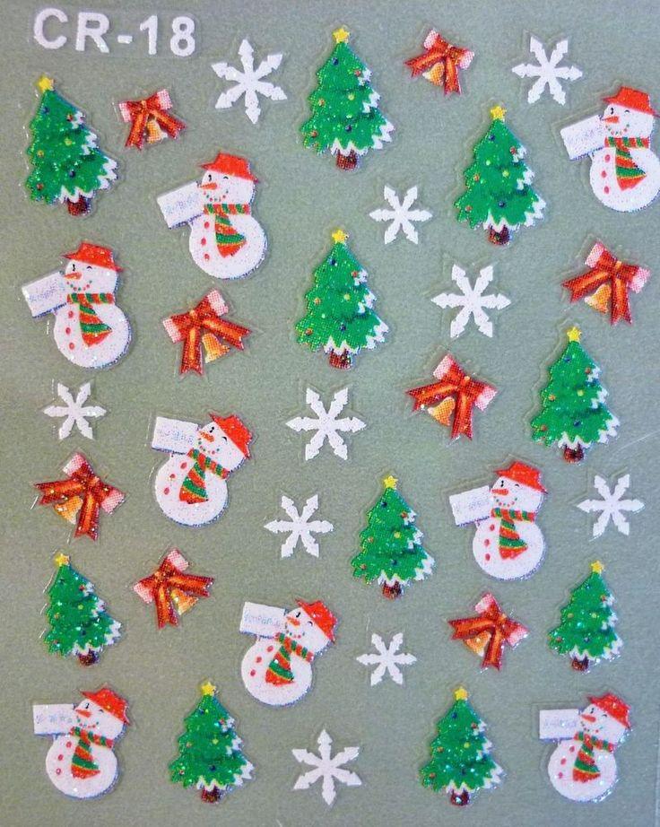 Mejores 91 imágenes de Christmas Nails en Pinterest | Arte de uñas ...