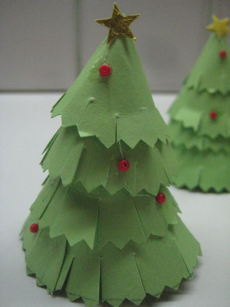 Paper Christmas decoration for the cake