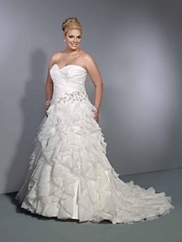 Unique Pretty plus size wedding dress by Landy