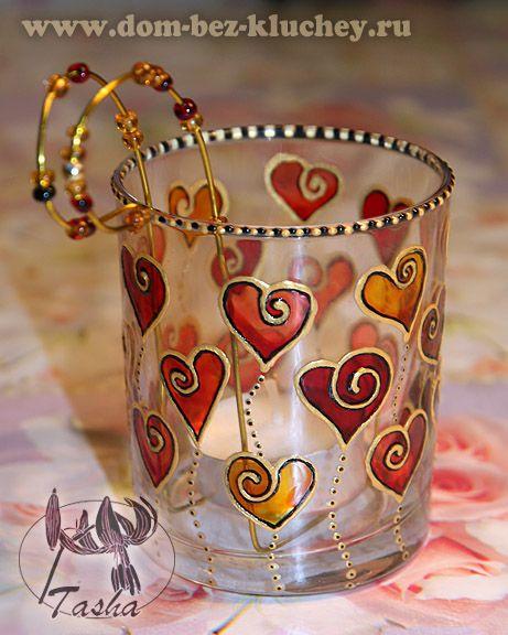 Роспись по стеклу (коллекция Tasha 2011-2012 года) Идея проволочно-бисерной подставки-завитушки ^_^