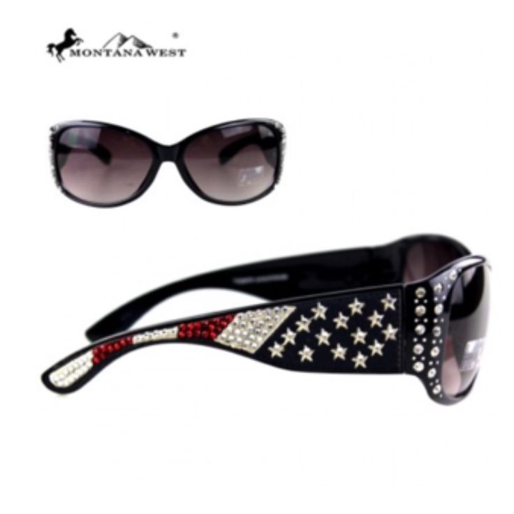 """""""Stars and Stripes"""" Montana West American Flag Sunglasses - Cheryl's Galore and More - 1"""