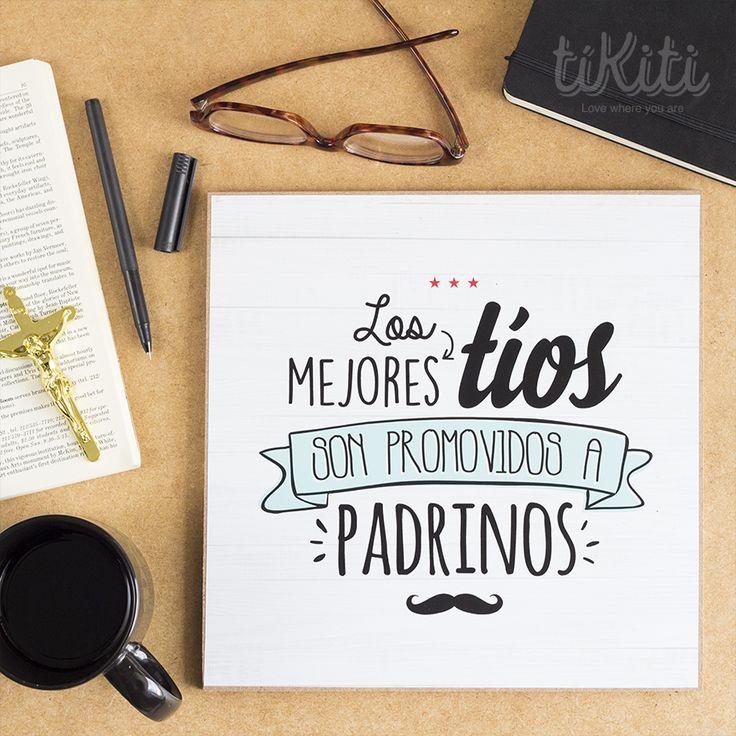 """Los mejores tíos son promovidos a padrinos. Pieza 10 x 10 """" http://www.tikiti.com.do/"""