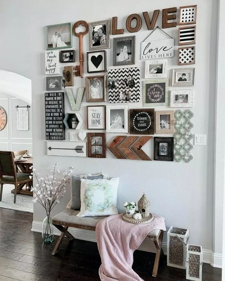 35 Stunning Living Room Wall Gallery Design Ideas Livingroomdecor Livingroomi 2019 Pallet Ideas Room Wall Decor Handmade Home Decor Wall Decor Living Room Picture frame living room decor